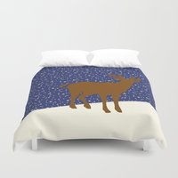 reindeer Duvet Covers featuring Reindeer by Mr & Mrs Quirynen