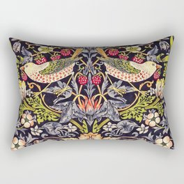 William Morris Strawberry Thief Art Nouveau Painting Rectangular Pillow