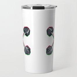 Crossed barbells Travel Mug