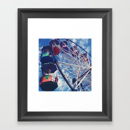 Big Wheel Ferris Wheel Framed Art Print