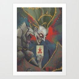 Joker: The man who laughs Art Print
