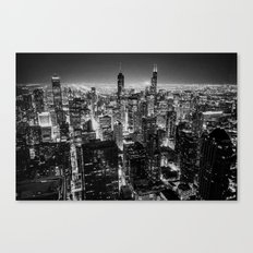 Nighttime Chicago Skyline Canvas Print