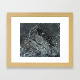 Foxes/abstract Framed Art Print
