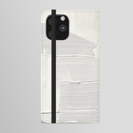 Relief [1]: an abstract, textured piece in white by Alyssa Hamilton Art iPhone Wallet Case