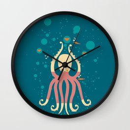 polpo innamorato Wall Clock