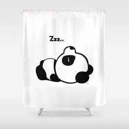Sleeping Baby Panda Kawaii AWWW! Shower Curtain