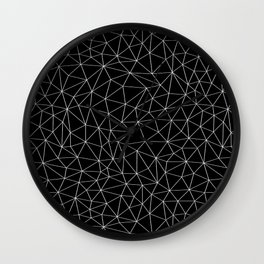 Low Pol Mesh (negative) Wall Clock