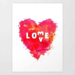 Love is like... Art Print