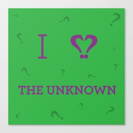 I heart The Unknown Canvas Print