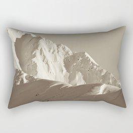 Alaskan Mts. - Mono I Rectangular Pillow