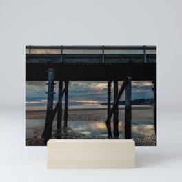 Under the pier, White Rock British Columbia Mini Art Print