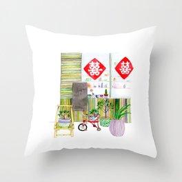 The Shop Throw Pillow