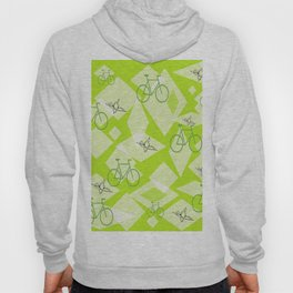 Bicycles and Butterflies Green Hoody