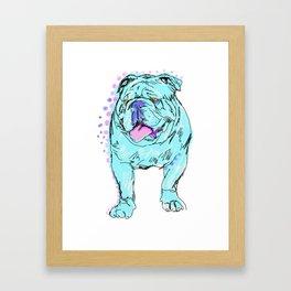 The Happy Bully Love of my Life! Framed Art Print