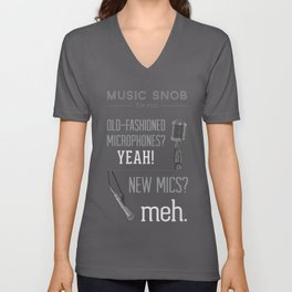 Yeah or Meh: The Microphone — Music Snob Tip #101 Unisex V-Neck