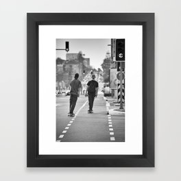 Skateboarding. Framed Art Print