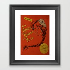 La Chica con el Craneo en el Pelo: The Girl With a Skull In Her Hair Framed Art Print