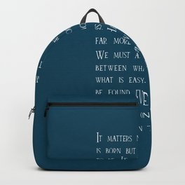 Dumbledore wise quotes Backpack