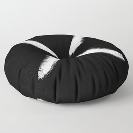 Refracted Moon - Black and white Floor Pillow