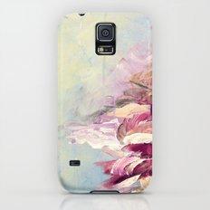 WINTER DREAMLAND 1 Colorful Pastel Aqua Marsala Burgundy Cream Nature Sea Abstract Acrylic Painting  Slim Case Galaxy S5