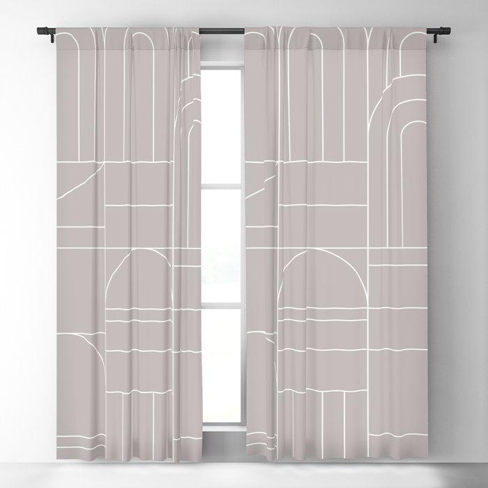 Deco Geometric 04 Grey Blackout Curtain
