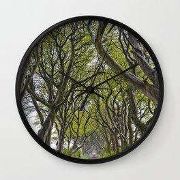 A Drive through the Dark Hedges Wall Clock