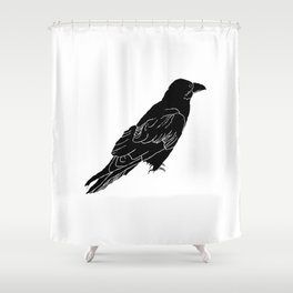 The Raven by Seasons Kaz Sparks Shower Curtain