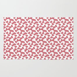 Hearts and Hearts pattern Rug