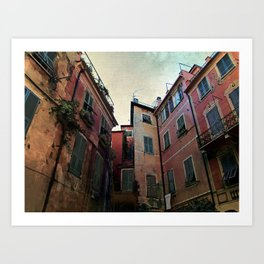 windows of Cinque Terre Art Print