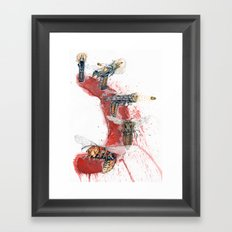 GUN SHOT ONE SHOT Framed Art Print