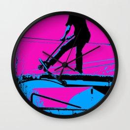 Air Walking Scooter Stunt Wall Clock