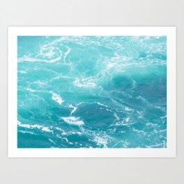 Turquoise Turbulence Art Print