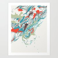 huebucket Art Prints featuring Colours In The Sky by Huebucket