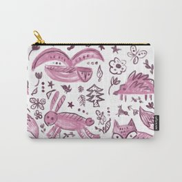 Pink Woodland  Carry-All Pouch