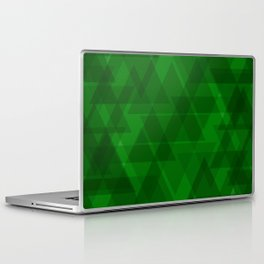 Bright green triangles in intersection and overlay. Laptop & iPad Skin