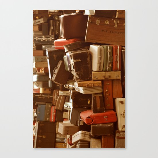 TOWER OF LUGGAGE Canvas Print