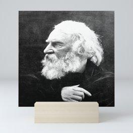 Julia Margaret Cameron - Portrait of Longfellow Mini Art Print