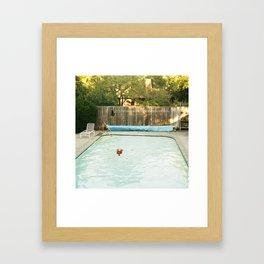 Pool Angel Framed Art Print