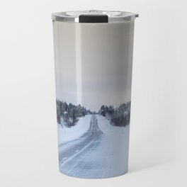 Icy Road in Finland Travel Mug