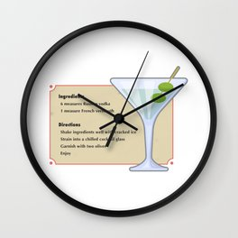 Shaken and not stirred Wall Clock
