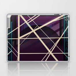 Crossroads - purple graphic Laptop & iPad Skin
