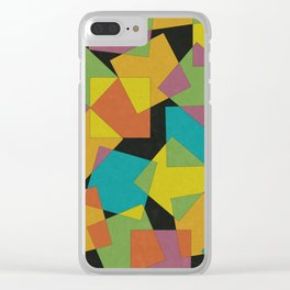 Playful Squares Clear iPhone Case