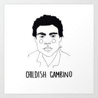 childish gambino Art Prints featuring Childish Gambino by ☿ cactei ☿