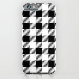 Black And White Lumberjack Pattern  iPhone Case