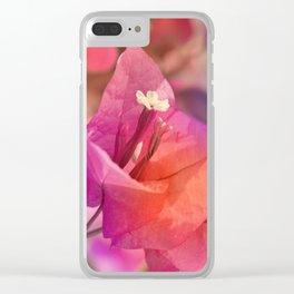 Bougainvillea  macro 056 Clear iPhone Case