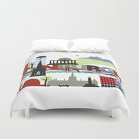 edinburgh Duvet Covers featuring Edinburgh landmarks & monuments  by andy fielding