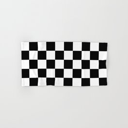 Black & White Checker Checkerboard Checkers Hand & Bath Towel