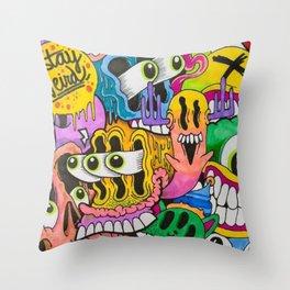 K_Komic_Kidd original (stay weird) Classic Throw Pillow
