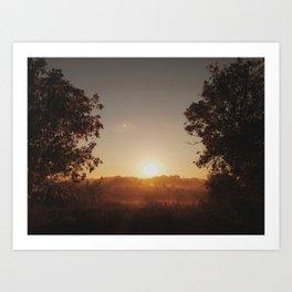 october sunrise Art Print