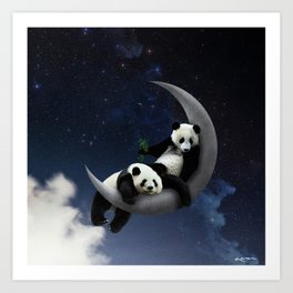 you're the panda to my moon. Art Print